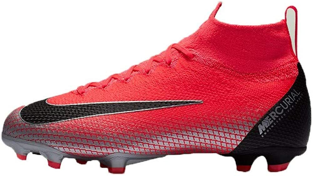 Nike Unisex Adults Mercurial Superfly 6 Elite FG Soccer Cleats, Flash Crimson/Chrome/Dark Grey/Black, US