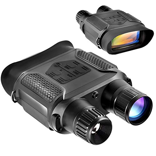 Digital Night Vision Binoculars 7x31mm-400m/1300ft Viewing Range and Super Large 4'' Viewing Screen Infrared Scope in Full Dark by SOLOMARK