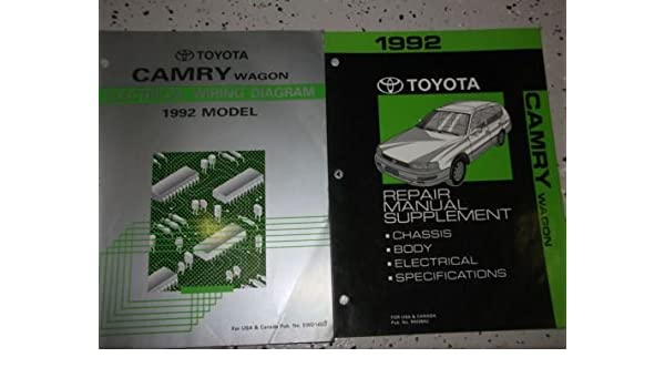 1992 Toyota Camry Wagon Service Shop Repair Manual ... on