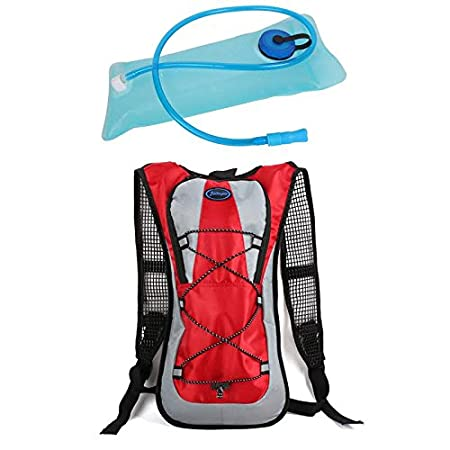 Fits Men Five Colors and Skiing Women Used for Hiking Youth and Kids Black Color Zaidogear Hydration Pack with 2L Backpack BPA Free Water Bladder Running and Skiing Cycling