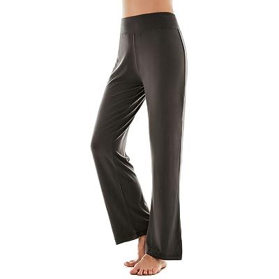 AM CLOTHES Womens Plus Size Foldover Waist Flare Leg Yoga Pants For Workout Sports