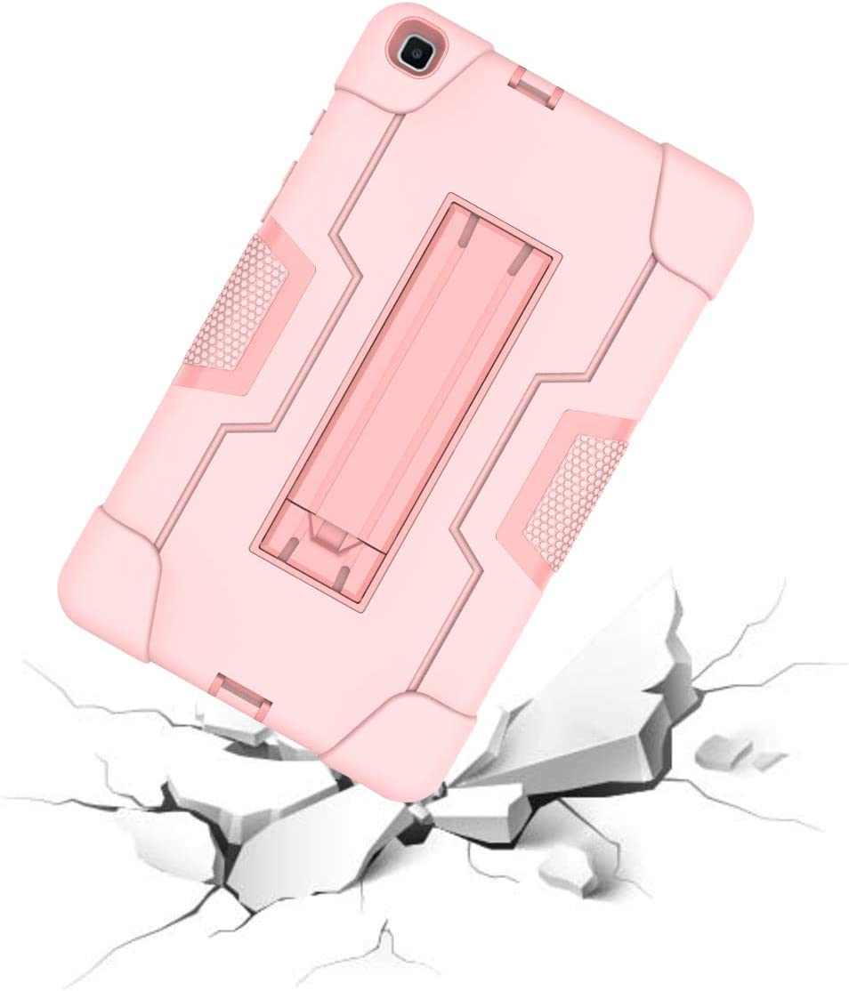 for Model SM-T295//SM-T290 Case 2019 Galaxy Tab A 8.0 2019 Case Armor Shockproof Heavy Duty Shield Hard Case Cover for Samsung Galaxy Tab A 8.0 T290 Rosegold