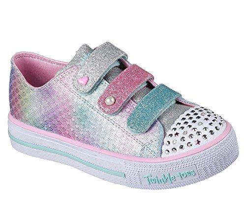 Skechers 10912N Toddlers Twinkle Toes: Shuffles - Ms. Mermaid Shoes