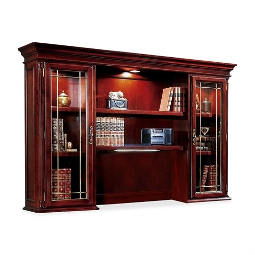 DMI Office Furniture Executive Overhead Storage Unit, 72 by 15 by 50-Inch, Cherry - Dmi Furniture Office Hutch
