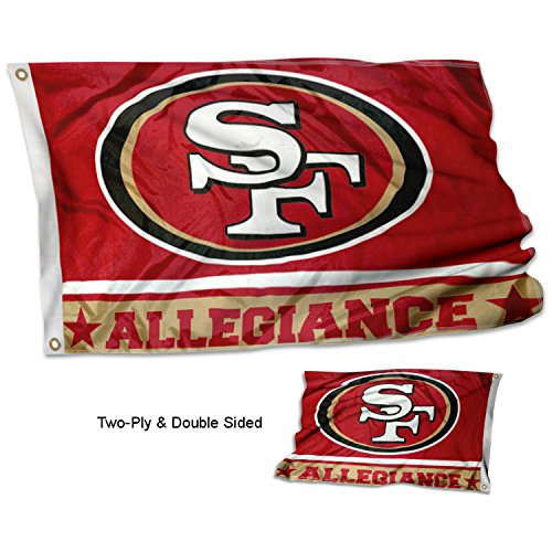 WinCraft San Francisco 49ers Double Sided Allegiance - San Flag Francisco 49ers
