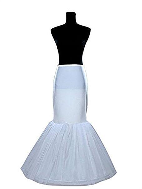 Enagua miriñaque blanca de cóctel sirena para novia guardainfante de novia enagua falda paseo nupcial vestido
