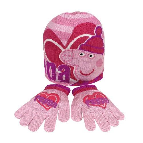 Impostare jacquard di cappello guanti Peppa Pig