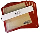 5-Pack Premium Silicone Sheets for Samson''Silent'' 10 Tray ALL Stainless Steel Dehydrator