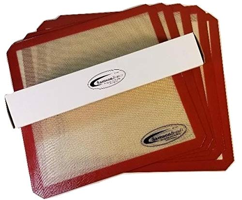 5-Pack Premium Silicone Sheets for Samson''Silent'' 10 Tray ALL Stainless Steel Dehydrator by Samson Brands (Image #1)