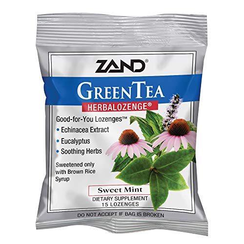 Zand Herbalozenge Herbal Green Tea with Echinacea, 15 ct