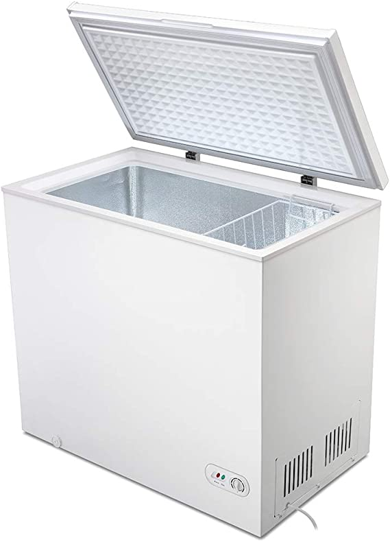 MYAL 7.0 Cubic Feet Chest Freezer with Removable Basket and Adjustable Thermostat Top open Door Compact Freezer Store Meet Fish Vegetable for Home and Kitchen