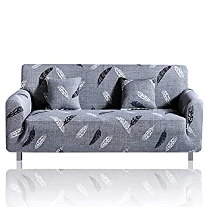 HEYOMART Sofa Cover High Stretch Elastic Fabric 1 2 3 Seater Sofa Slipcover Chair Loveseat Couch Cover Polyester Spandex…