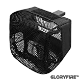 GLORYFIRE Brass Catcher Tactical Deluxe Mesh Brass Shell Catcher with Zippered Bottom for Quick Unload (Black 3)