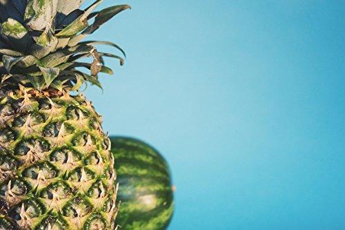Ananas und Melone Poster ca. 60 x 42 cm Fotografie Wandbild