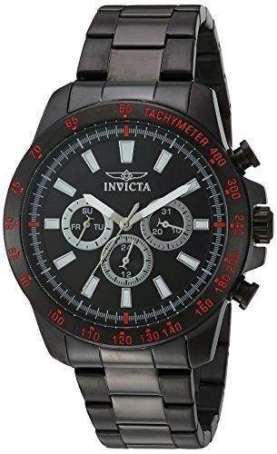 Invicta Men's Speedway Swiss-Quartz Watch with Stainless-Steel Strap, Black, 22 (Model: 20341)