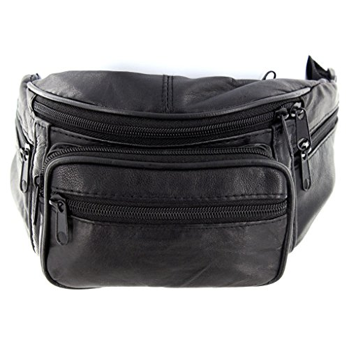 Genuine Leather Fanny Pack Cellphone Holder Organizer By Silver Fever (Organizer Leather Genuine)