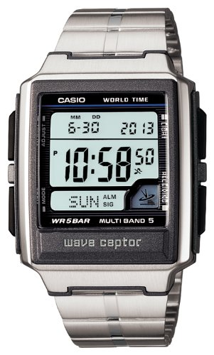 Multi Time Zone Clock (CASIO watch WAVE CEPTOR Waveceptor radio clock MULTIBAND 5 WV-59DJ-1AJF mens watch)