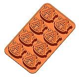 NCAA Auburn Tigers Ice Trays & Candy Mold, One Size, Orange