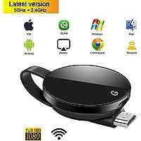 Ansgo Wireless Display Adapter 5GHz + 2.4GHz WiFi HDMI Dongle Display 1080 HD TV Empfänger Adapter Unterstützung Chromecast/Miracast/Airplay/Google Startseite/DLNA / MAC1 / iOS/Android/Windows