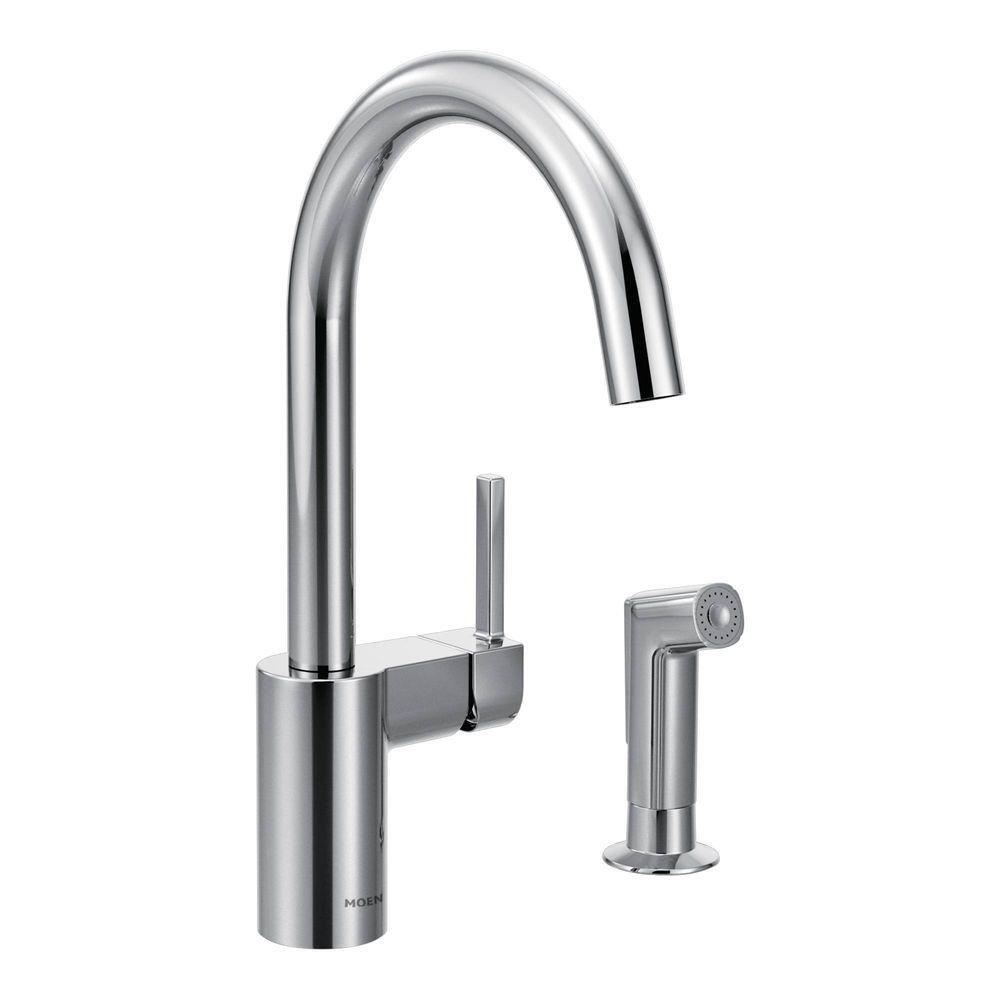 Moen 7165 Align One-Handle High Arc Kitchen Faucet, Chrome