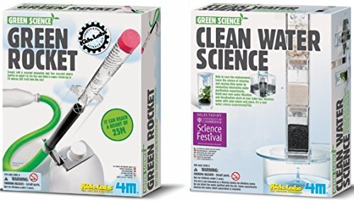 (4M Green Science 2-Pack: Green Rocket, Clean Water Science)