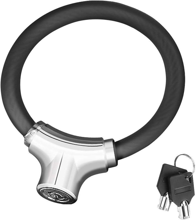 Allnice Mini Bike Lock Cable Portable Anti-Theft Bike Bicycle Lock Security Cycling Cable Lock Zinc Alloy Senior Waterproof Travel Luggage Locks Helmet Lock