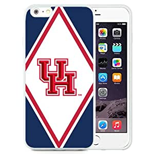 Beautiful Designed With NCAA American Athletic Conference AAC Football Houston Cougars 3 Protective Cell Phone Hardshell Cover Case For iPhone 6 Plus 5.5 Inch White