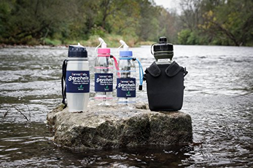 $averPak 2 Pack - Includes 2 Seychelle 28oz Flip Top Water Filtration Bottles with the Seychell EXTREME RAD/ADV Filters and 2 Additional Spare EXTREME RAD/ADV Filters by $averPak (Image #3)'