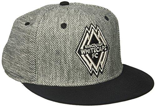 - adidas MLS Vancouver Whitecaps Men's Heathered Gray Fabric Flat Visor Flex Hat, Large/X-Large, Gray