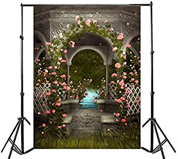 Telón de Fondo de Vinilo para fotografía de jardín, Estilo Piscina: Amazon.es: Electrónica