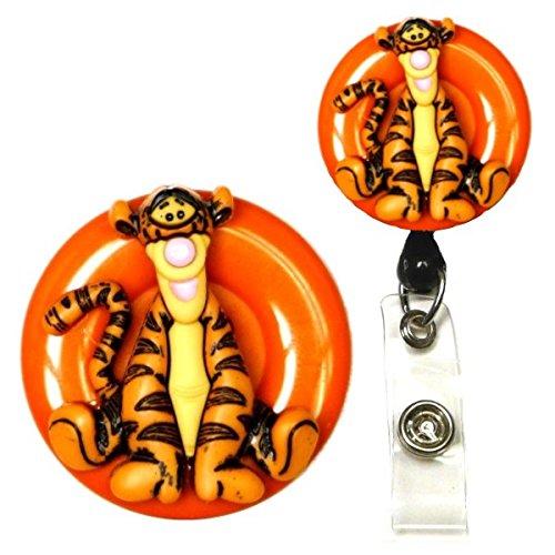 Pooh and Crew Real Charming Decorative ID Badge Holder (Tigger Swivel Alligator)