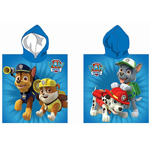 accappatoio poncho paw patrol nickelodeon