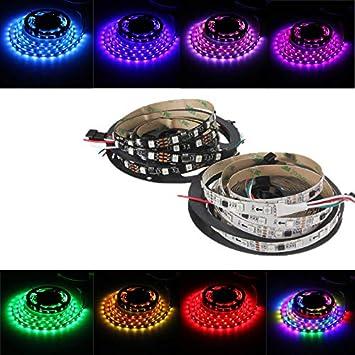 takestop® - Tira de Luces LED de 1 Metro, 30 LED, retroiluminación, retroiluminación, Fondo, Efecto de luz, RGB, con práctico Adhesivo 5050 SMD TV Smart TV PC: Amazon.es: Electrónica