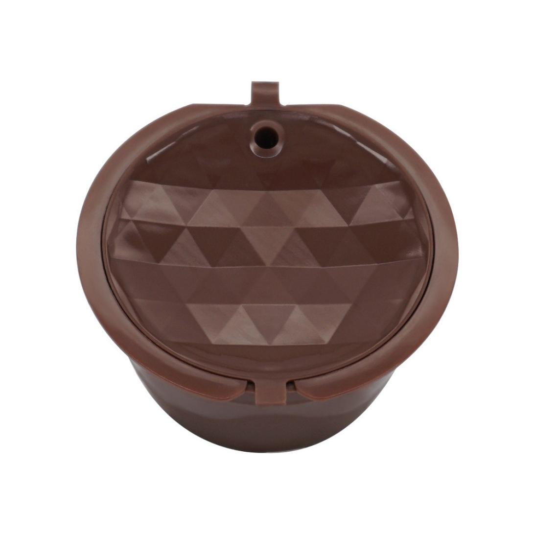 Hot Sale! Hongxin Coffee Filter Coffee Capsule Reusable Dolce Gusto Coffee Capsule,Plastic Refillable Compatible Dolce Gusto Filter Capsules For Dolce Gusto Nescafe (Brown)