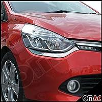 OMAC Clio IV 4 / Grandtour IV Chrom Scheinwerferblenden Böser Blick Edelstahl