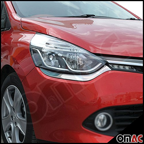 Clio IV 4/Grand Tour IV Chrome-Plated Stainless Steel Headlight Bezels OMTEC