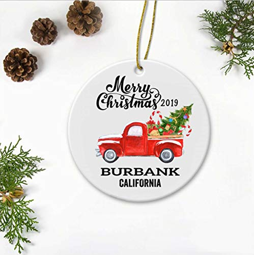 Burbank California State Family New Home Ornament 2019, used for sale  Delivered anywhere in USA