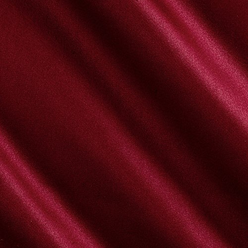 Burgundy Polyester Fabric (Stretch L'Amour Satin Burgundy Fabric By The Yard)