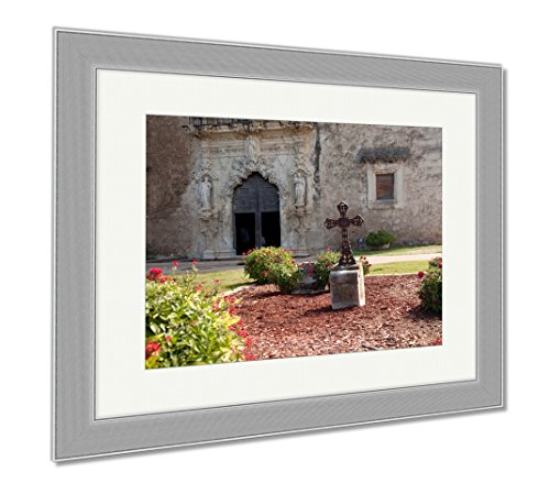 Ashley Framed Prints San Antonio Mission San Juan In Texas, Wall Art Home Decoration, Color, 34x40 (frame size), Silver Frame, AG5652538 by Ashley Framed Prints