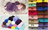 Newborn Baby Photography Cheesecloth Swaddle Cocoon Knit Crochet Wrap Photo Photography Prop (3)