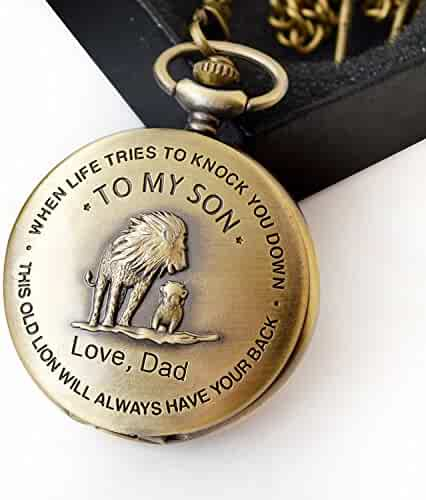 Pocket watch Gift for son from dad memories gift birthday gift dad to son - Gift ideas for son