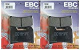 EBC Kevlar Organic Front Brake Pads (2 Sets) for Both Calipers 2005 Ducati ST4S ABS / FA244