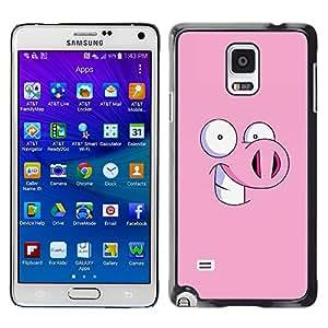 X-ray Impreso colorido protector duro espalda Funda piel de Shell para Samsung Galaxy Note 4 IV / SM-N910F / SM-N910K / SM-N910C / SM-N910W8 / SM-N910U / SM-N910G - Piggy Pig Cartoon Eyes Funny