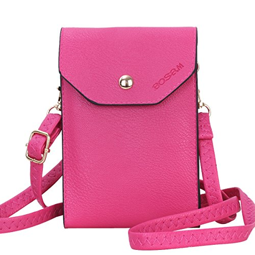 - Bosam Cute Crossbody Cell Phone Purse Small Woman Bag Wallet for iPhone 8 7 6 6s and Other Smartphones Under 5.5inch(Pink)