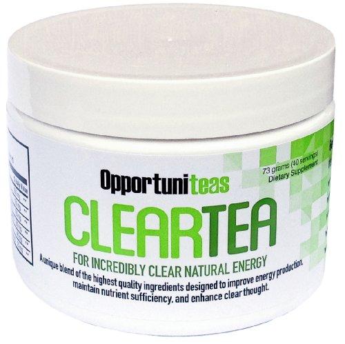 ClearTea | All Natural Energy Drink порошок без испуг или аварии | Идеальный вес Потеря Чай или сжигания жира Повышение | Матча зеленый чай, мате, ягоды, родиола розовая, антиоксиданты, витамины и минералы | Удивительные Зеленый Суперпищи Здоровье Пищевая