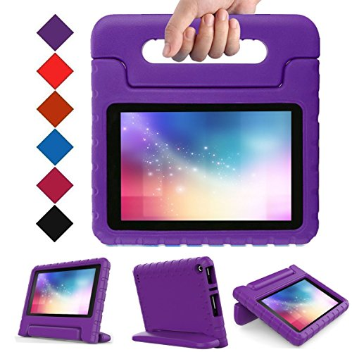 Kids Case for Fire 7 Tablet (7th Generation, 2017 Release), LTROP EVA Super Protective Fire 7 Case for Kids, Anti-Slip Light Weight Shock-Proof 2017 New Fire 7 Tablet Case - - Inch Case 7 Purple Tablet