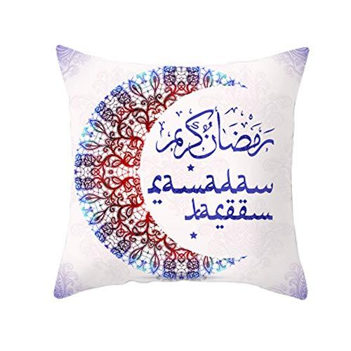GTQC Halal Eid al-Adha Home Decoration Supplies Pillowcase Hair Cushion Cover (Two Sets) TPR166-2 4545cm
