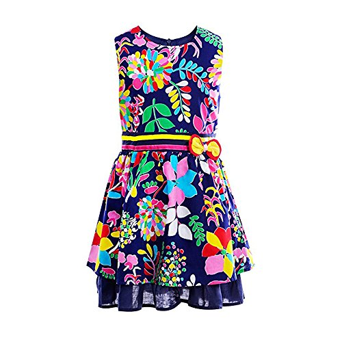 Baby Girl Spring Sleeveless Dress 2-7Years New - 9