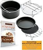 XL Air Fryer Accessories XL for Power Airfryer XL Gowise and Phillips, Set of 5, includes a recipe book Fit all 5.3QT - 5.8QT
