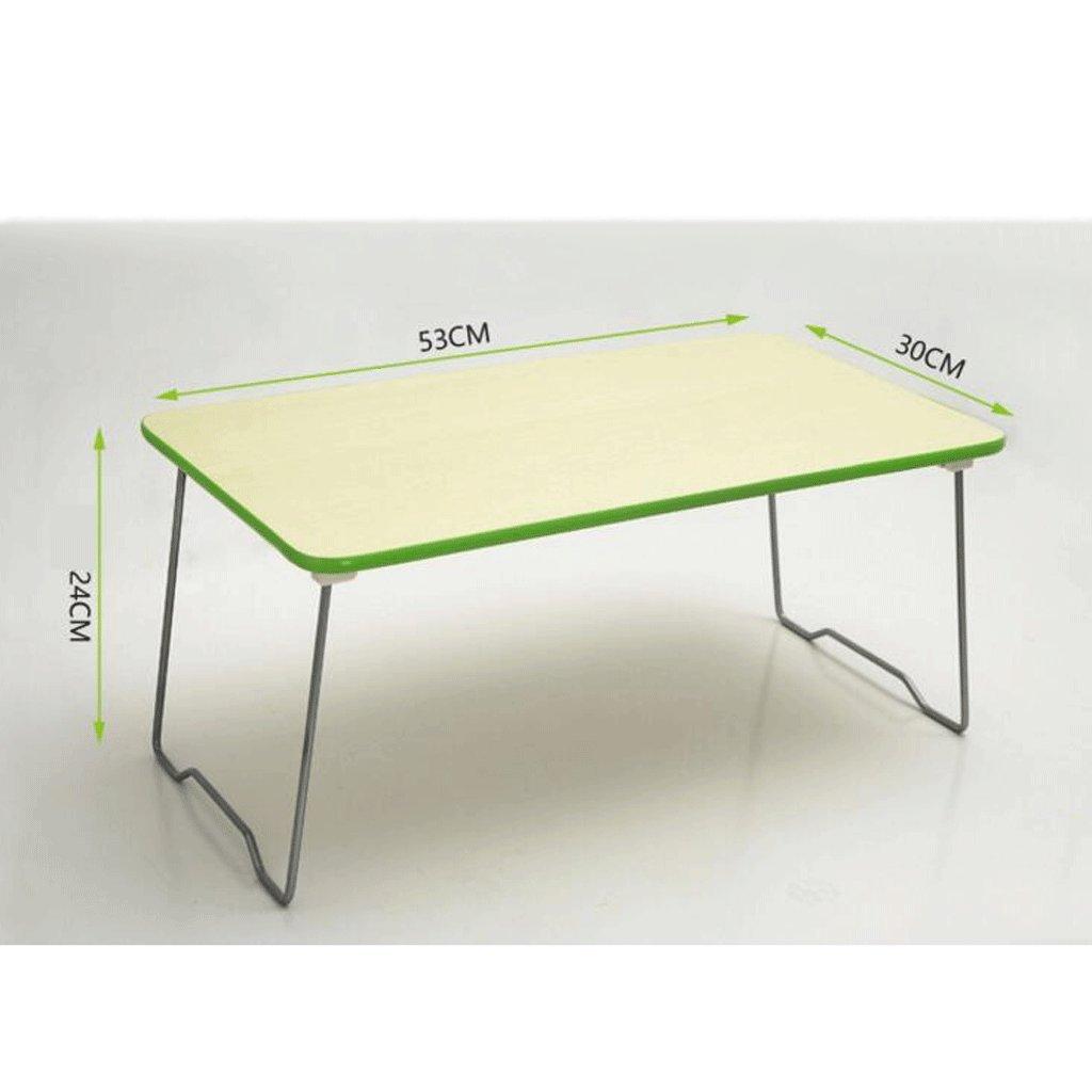 GAOLILI シンプルな学生寮でラップトップのベッドテーブルを書くラーニングデスク小さなデスクの折り畳み式レイジーテーブル (色 : A) B07DNSPKF5A